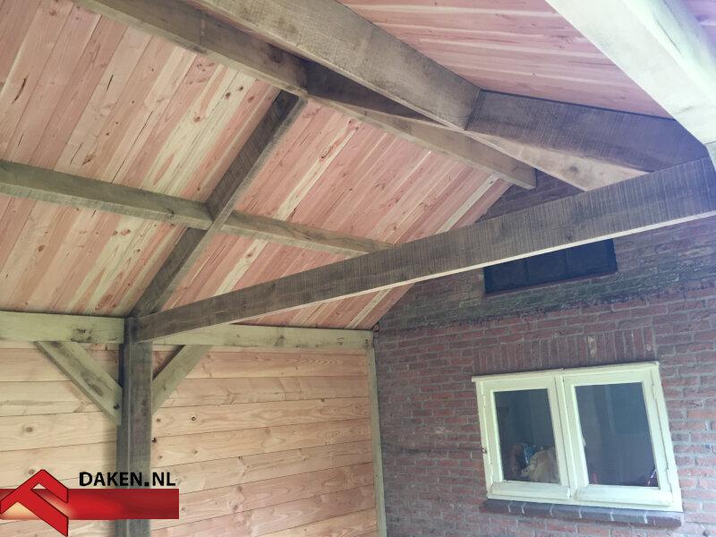 11-Aanbouw-Eikenhouten-Overkapping-Te-Soest-dakconstructie-1