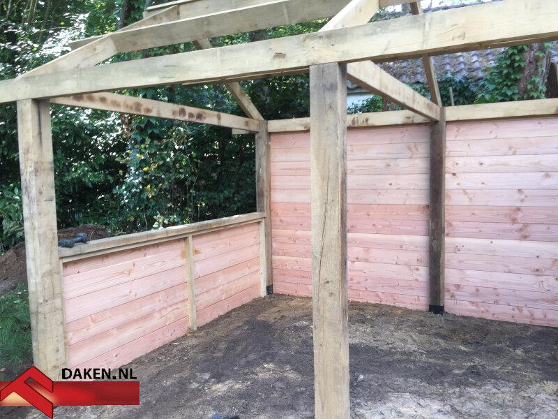 6-Aanbouw-Eikenhouten-Overkapping-Te-Soest-houten-muur-1